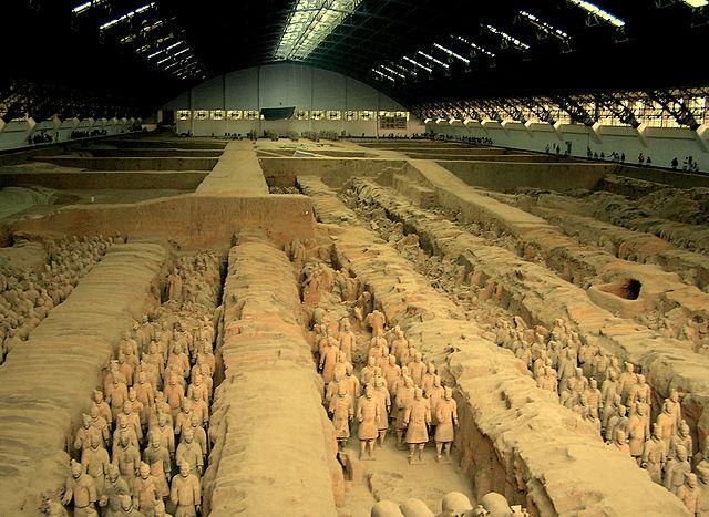 始皇帝陵兵馬俑坑1号坑。