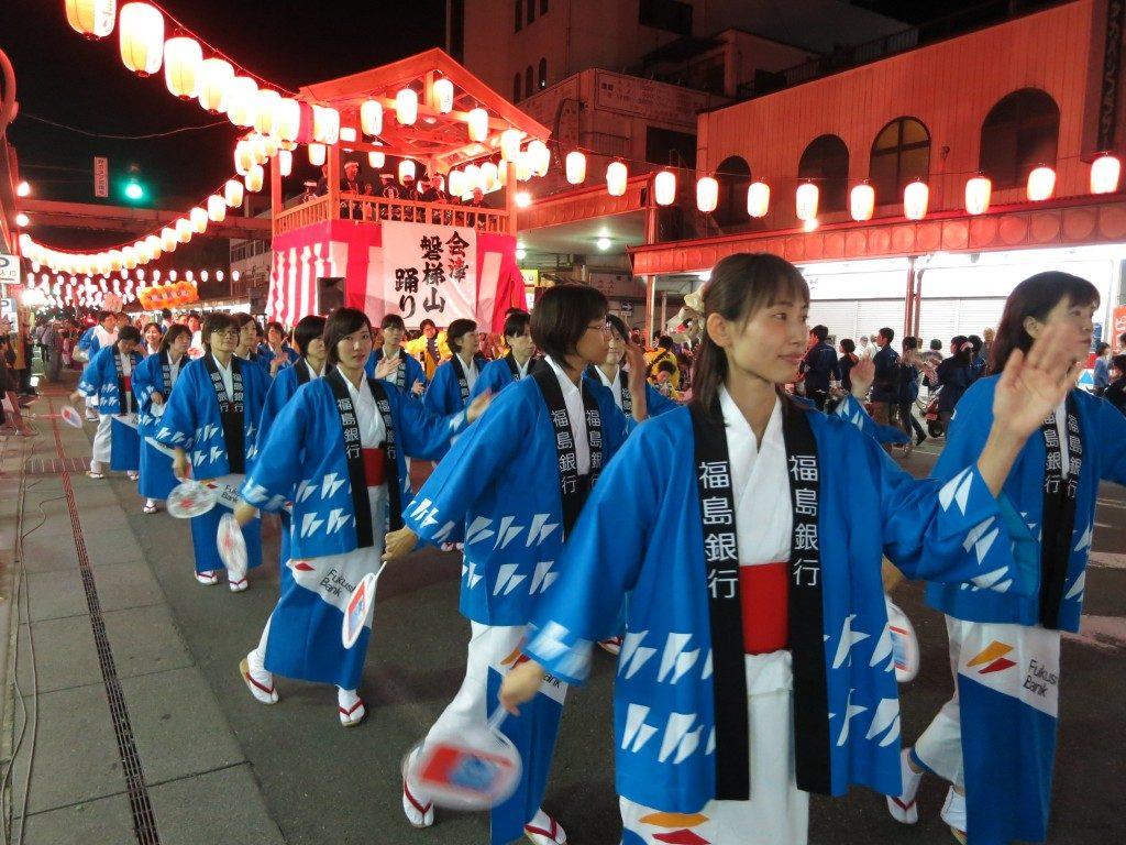 「会津磐梯山踊りは23日24日の2夜行われます」