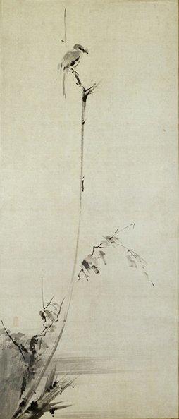 「武蔵が描いたとされる『枯木鳴鵙図』」
