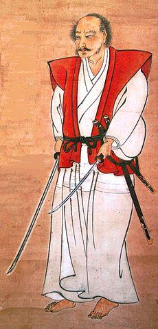江戸時代初期の剣豪。宮本武蔵の肖像画(自画像)