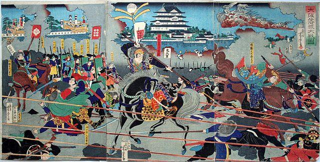 『大阪落城大戦図』
