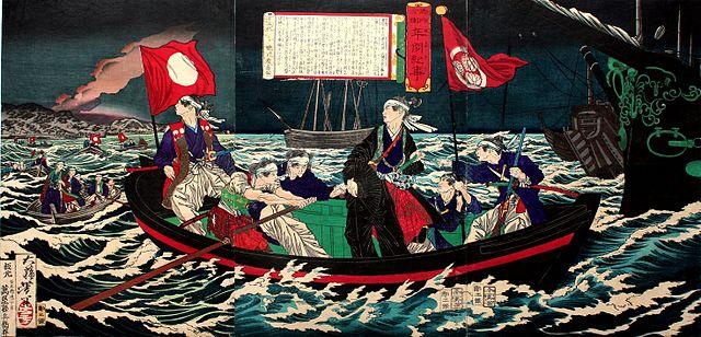 大坂城を密かに脱出する慶喜