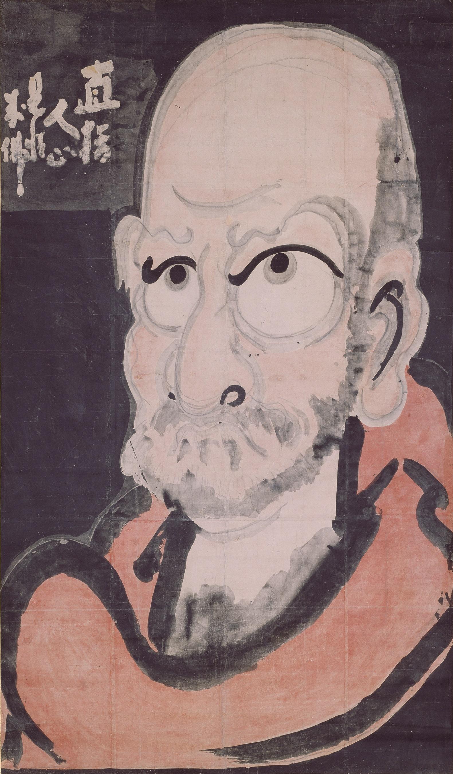 達磨像 白隠慧鶴筆 江戸時代 18世紀 大分・萬壽寺蔵(通期展示)