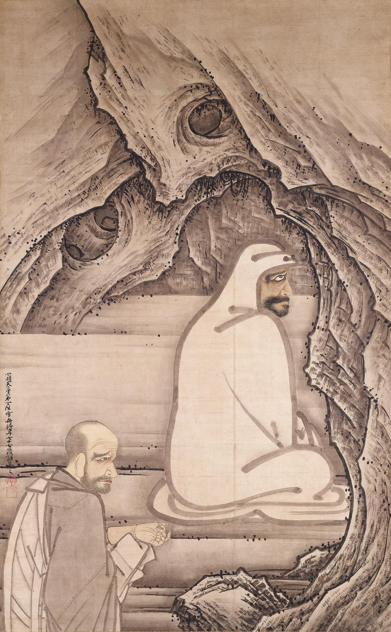 国宝 慧可断臂図 雪舟等楊筆 室町時代 明応5年(1496) 愛知・齊年寺蔵 (11/8~11/27展示)