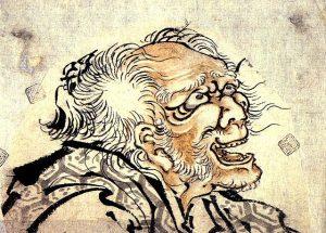 北斎が82歳頃の自画像の一部。すごい…