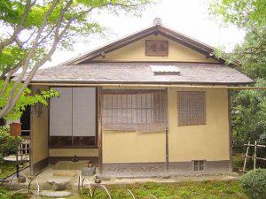 国宝茶室如庵(現在は愛知県犬山市名鉄犬山ホテル内の有楽苑(うらくえん)に移築されている)